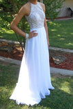 Fabulous Mermaid Navy Scoop Sleeveless Prom Dress with Beading,Evening Dress,SVD319