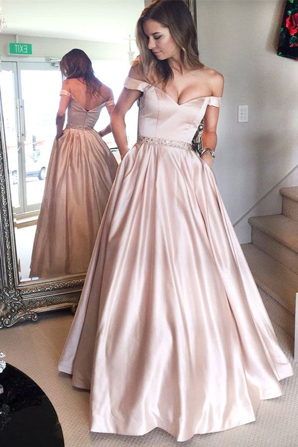 Off the Shoulder Prom Dresses,Long Party Dress,Graduation Prom Dresses,Pageant Dresses, M34