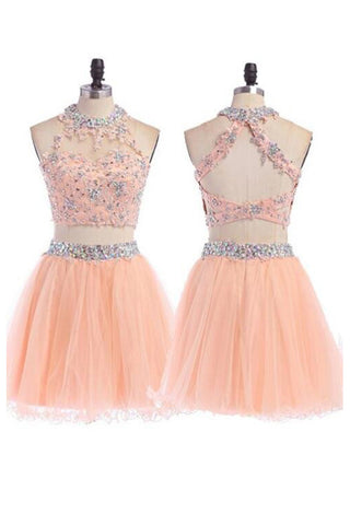 Sexy Two Pieces Short Prom Dresses,Lace Homecoming Prom Dresses on Line,M57