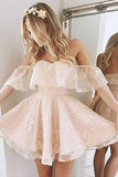 Cute Tulle Lace Short Prom Dresses, Homecoming Dresses Short,SH23