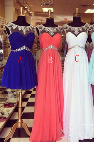 A-line Scoop Zipper Back Beading Prom dress,Cheap prom dress on line, SH79