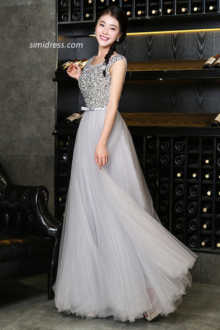 Decent Long Prom Dresses with Beading,Fabulous Party Dresses,Prom Gowns for Girls,SIM617