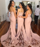 Blush Pink Bridesmaid Dresses,Cheap Long Bridesmaid Gowns, Wedding Party Dresses,M31