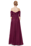 Burgundy Chiffon Prom Dresses,Long Prom Dresses,Formal Dress for Weddings and Events,SIM612
