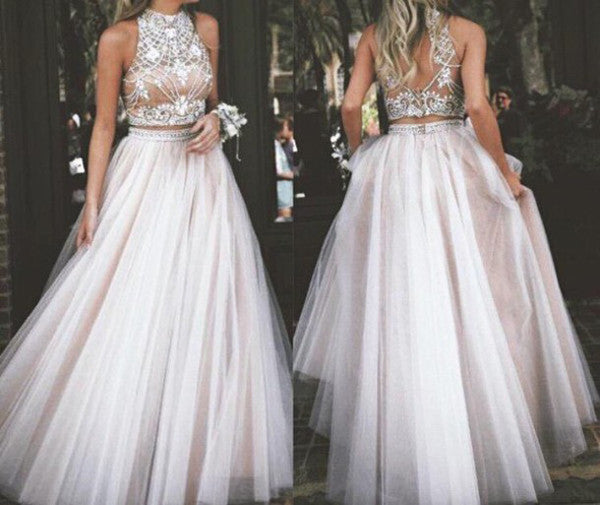 two piece prom dresses