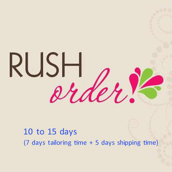 Rush Order Fee or Extra Cost