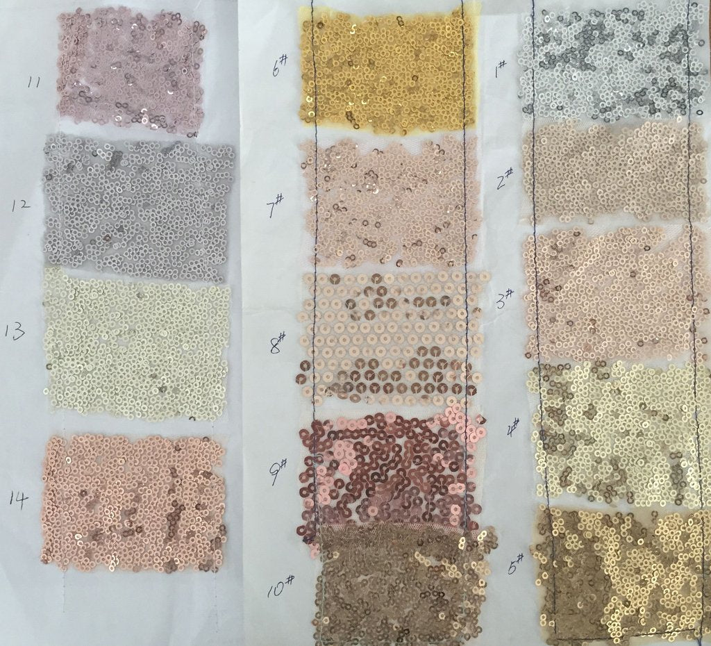 Sequin Color Swatch of Simidress.com