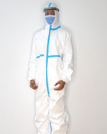 Coverall With Blue Tape