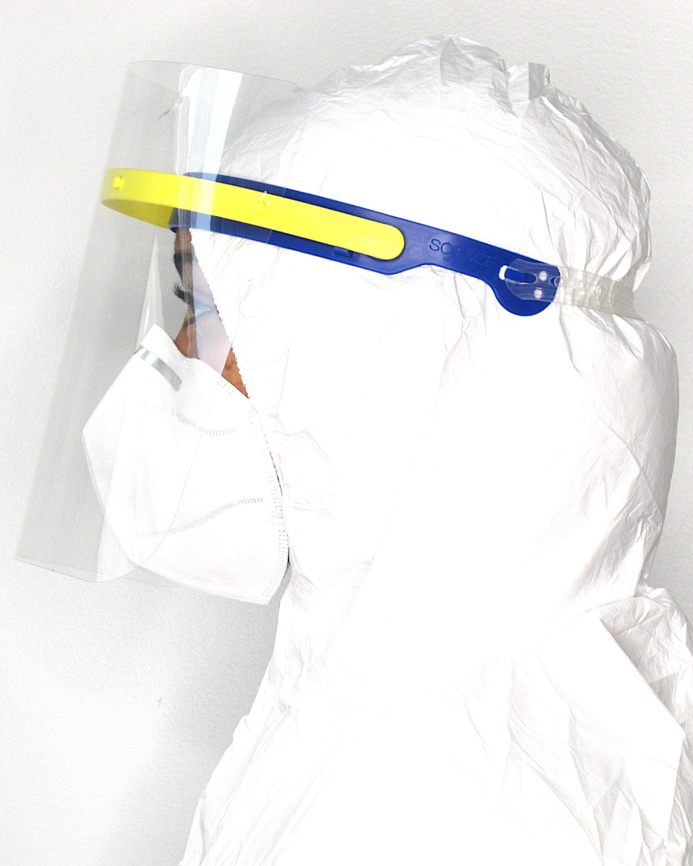 Face Shield Blue/Yellow in Face Shield Blue/Yellow