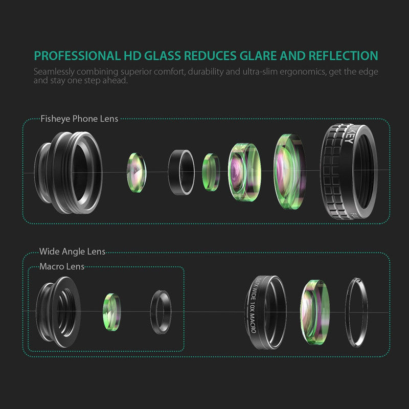 3-in-1  Clip-on Wide-Angle Camera Lens - Store4You.co