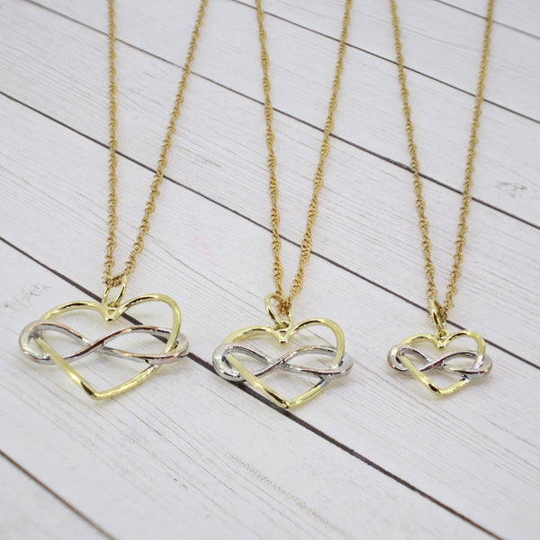 3 Generation Infinity Heart Necklace (Set of 3)