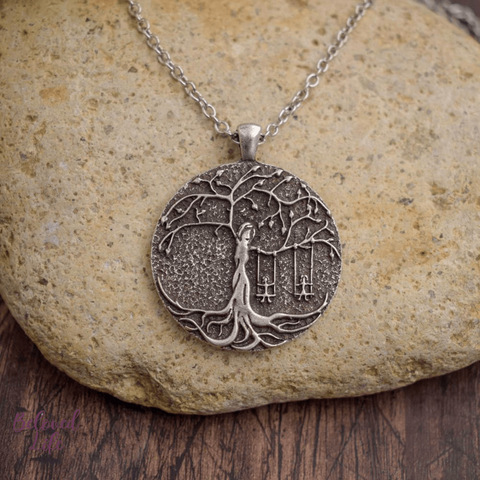 Beloved Life Jewelry: 2 Sisters 'Tree of Life' Pendant Necklace [Silver]