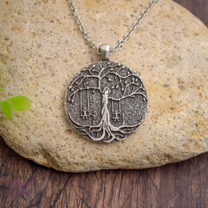Beloved Life Jewelry: 4 Sisters 'Tree of Life' Pendant Necklace [Silver]
