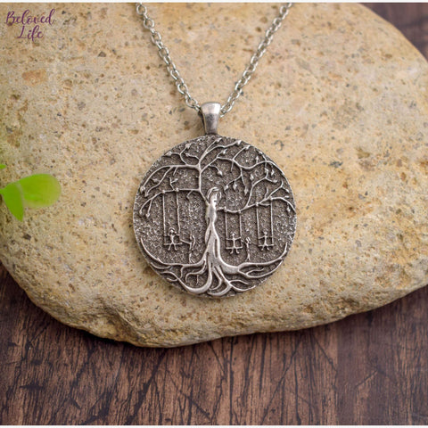 Beloved Life Jewelry: 5 Sisters 'Tree of Life' Pendant Necklace [Silver]
