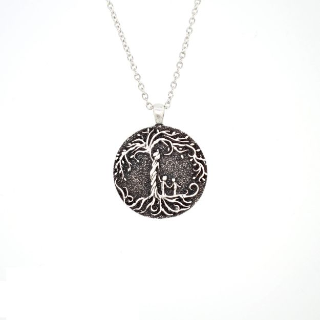Mom & 2 Child 'Tree of Life' Pendant Necklace [Silver]