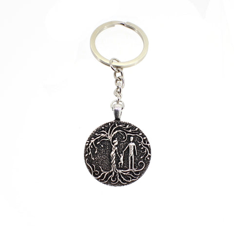 Parents & Toddler 'Tree of Life' Pendant Keychain [Silver]