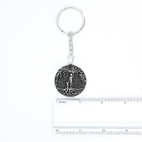 Dad & Daughter 'Tree of Life' Pendant Keychain [Silver]