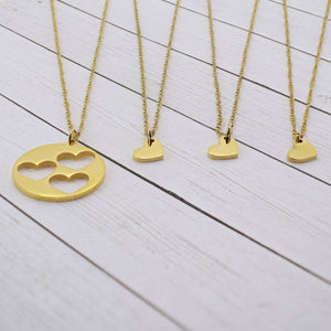 Mommy and Me - Triple Heart Necklace Set