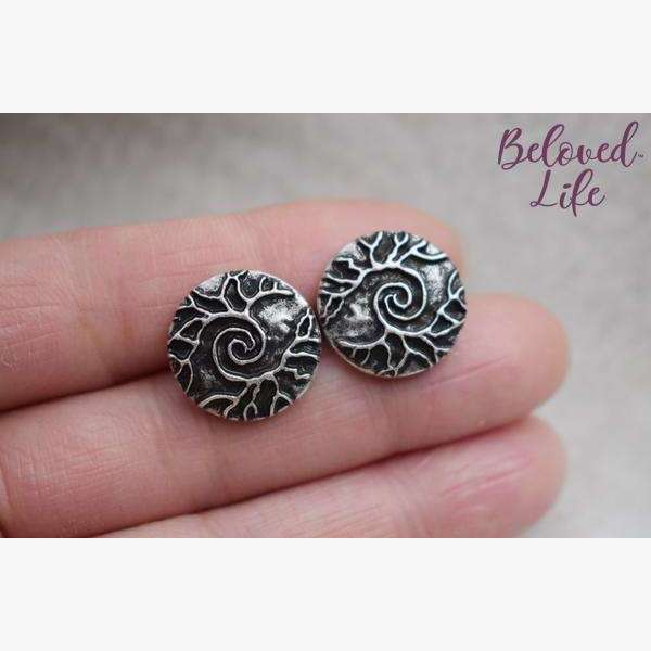 """As Above... So Below"" Earrings [Silver]"