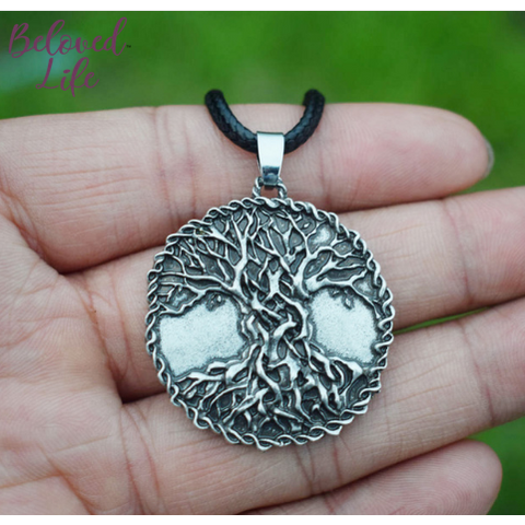 "Beloved Life Jewelry: ""As Above... So Below"" Mega Tree Pendant Necklace [Silver]"