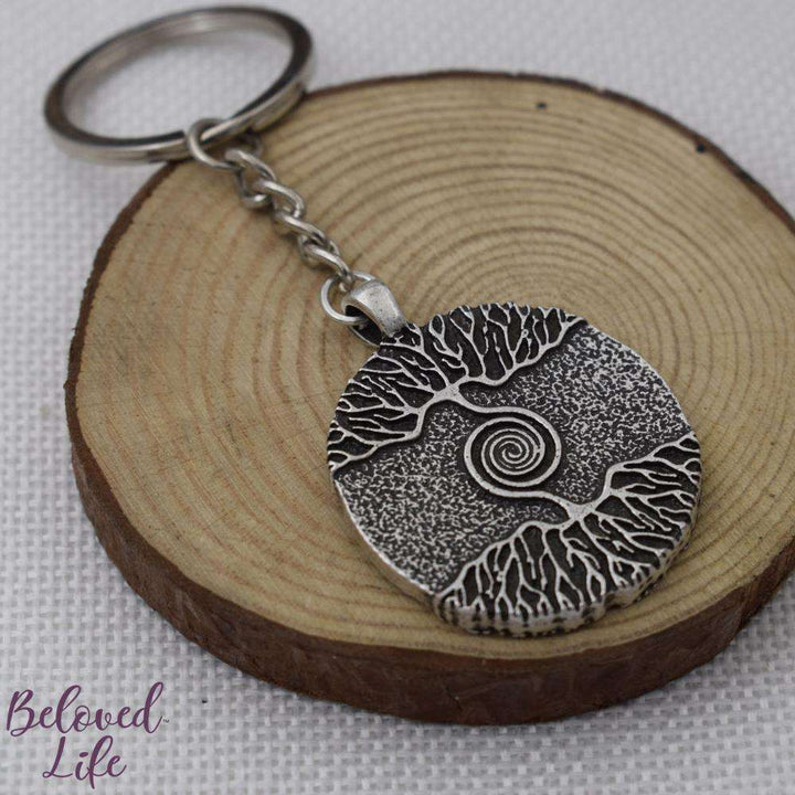 "Beloved Life Jewelry: ""As Above... So Below"" Pendant Keychain [Silver]"