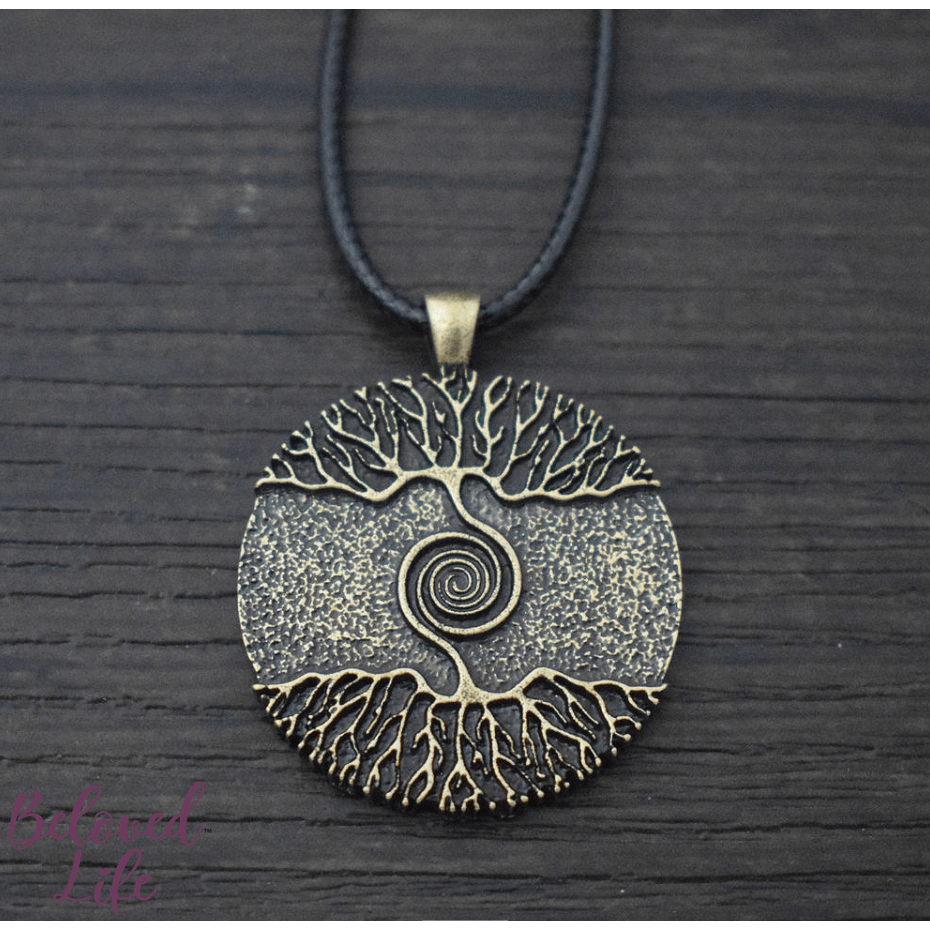 "Beloved Life Jewelry: ""As Above... So Below"" Pendant Necklace [Bronze]"