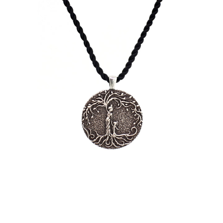 30x30MM Green Tree of Life Stainless Steel Pendant Necklace Mother Daughter Girl