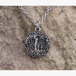 "Beloved Life Jewelry: ""Dainty"" Mom & 2 Child 'Tree of Life' Necklace [Silver]"