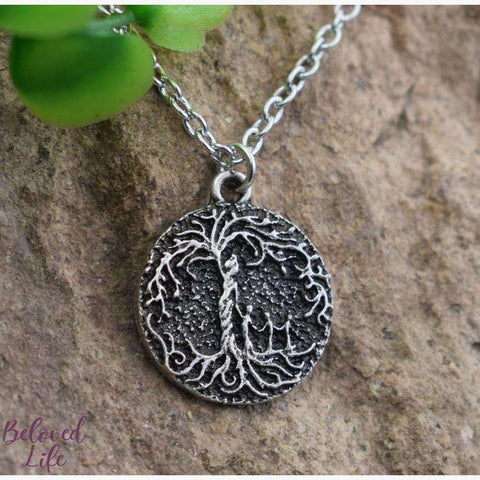 "Beloved Life Jewelry: ""Dainty"" Mom & 3 Child 'Tree of Life' Necklace [Silver]"