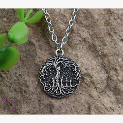 "Beloved Life Jewelry: ""Dainty"" Mom & 4 Child 'Tree of Life' Necklace [Silver]"