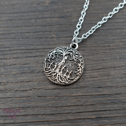 "Beloved Life Jewelry: ""Dainty"" Mom & 5 Child 'Tree of Life' Necklace [Silver]"