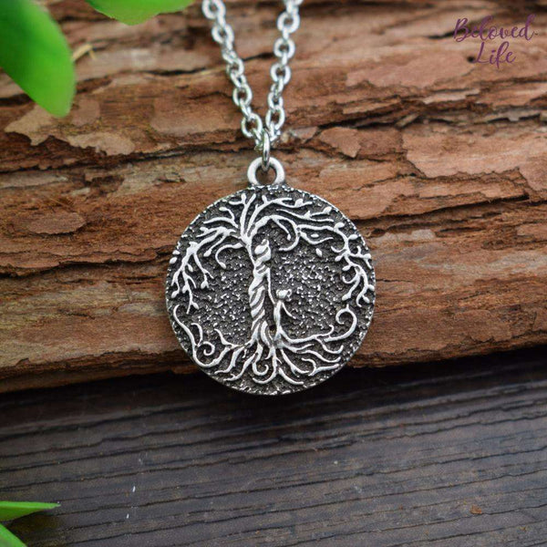 "Beloved Life Jewelry: ""Dainty"" Mom & Daughter 'Tree of Life' Necklace [Silver]"