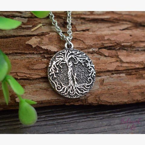 "Beloved Life Jewelry: ""Dainty"" Mom & Son 'Tree of Life' Necklace [Silver]"