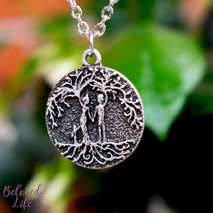 "Beloved Life Jewelry: ""Dainty"" Parents & Son 'Tree of Life' Necklace [Silver]"