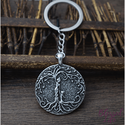 Beloved Life Jewelry: Grandmother & Granddaughter 'Tree of Life' Pendant Keychain [Silver]