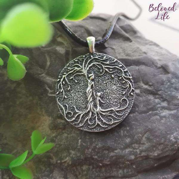 Beloved Life Jewelry: Grandmother & Granddaughter 'Tree of Life' Pendant Necklace [Silver]
