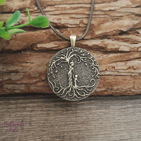 Beloved Life Jewelry: Grandmother & Grandson 'Tree of Life' Pendant Necklace [Bronze]