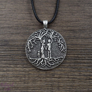 Beloved Life Jewelry: Grandparents & Granddaughter 'Tree of Life' Pendant Necklace [Silver]