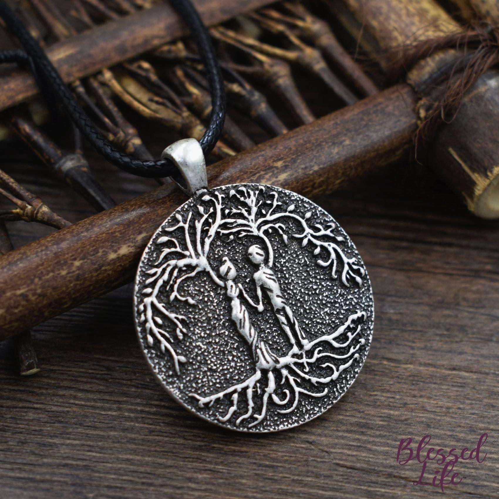 Beloved Life Jewelry: Husband & Wife 'Tree of Life' Pendant Necklace [Silver]
