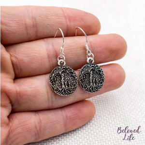 Beloved Life Jewelry: Mom & 2 Child 'Tree of Life' Pendant Earrings [Silver]