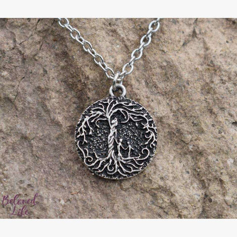 "Beloved Life Jewelry: Mom & 2 Child 'Tree of Life' Ultimate BUNDLE: ""Dainty"" Necklace + Bracelet + Earrings + Keychain [Silver]"