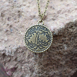 Beloved Life Jewelry: Mom & 3 Child 'Tree of Life' Coin Pendant Necklace [Antique Bronze]