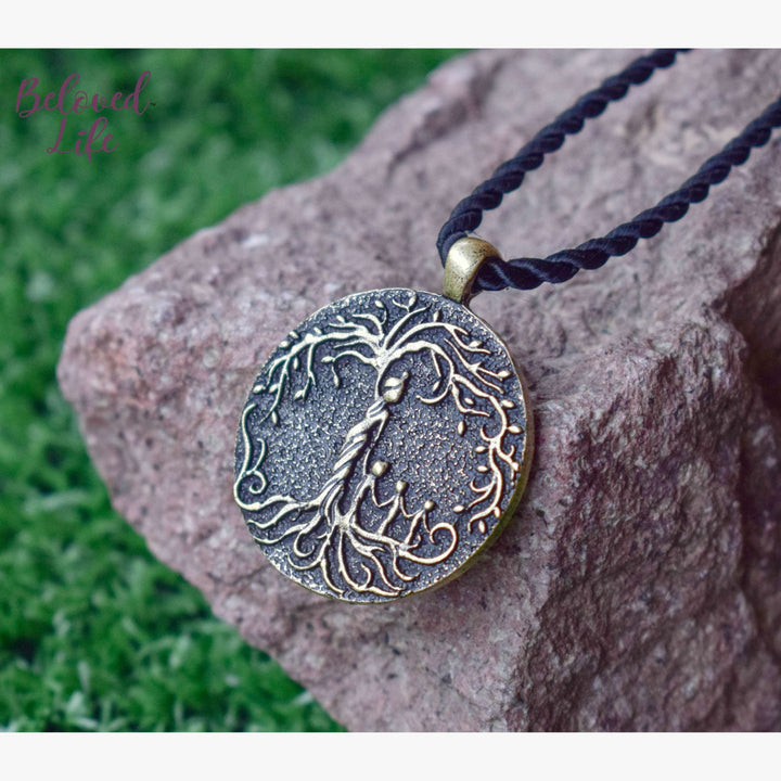 Beloved Life Jewelry: Mom & 3 Child 'Tree of Life' Pendant Necklace [Bronze]