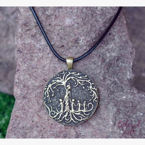 Beloved Life Jewelry: Mom & 4 Child 'Tree of Life' Pendant Necklace [Bronze]