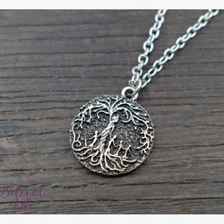 "Beloved Life Jewelry: Mom & 4 Child 'Tree of Life' Ultimate BUNDLE: ""Dainty"" Necklace + Bracelet + Earrings + Keychain [Silver]"