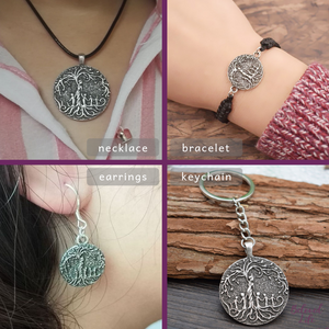 Beloved Life Jewelry: Mom & 4 Child 'Tree of Life' Ultimate BUNDLE: Necklace + Bracelet + Earrings + Keychain [Silver]
