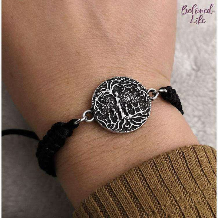 Beloved Life Jewelry: Mom & 5 Child 'Tree of Life' Pendant Bracelet [Silver]