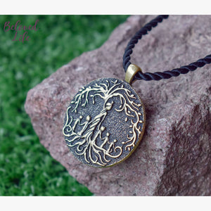 Beloved Life Jewelry: Mom & 5 Child 'Tree of Life' Pendant Necklace [Bronze]