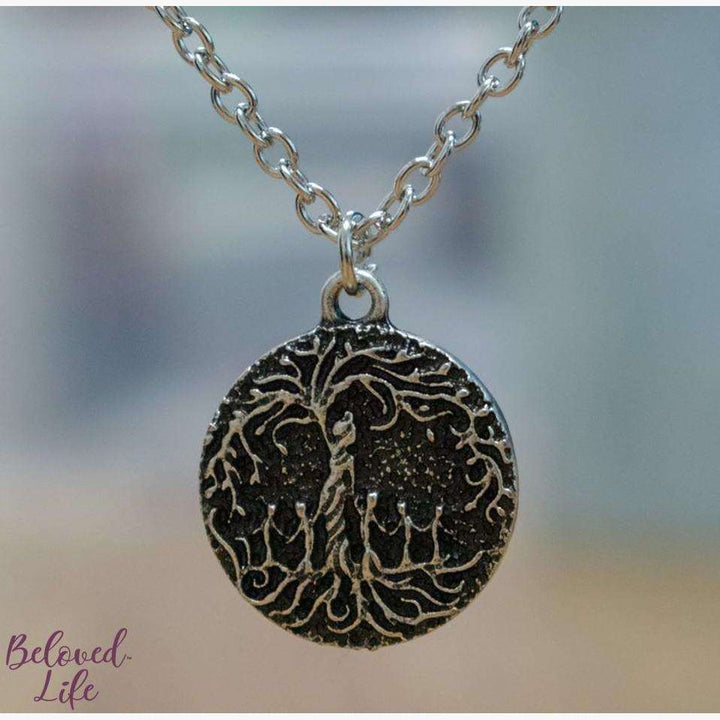 "Beloved Life Jewelry: Mom & 5 Child 'Tree of Life' Ultimate BUNDLE: ""Dainty"" Necklace + Bracelet + Earrings + Keychain [Silver]"