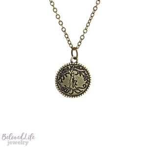 Beloved Life Jewelry: Mom & Daughter 'Tree of Life' Coin Pendant Necklace [Antique Bronze]